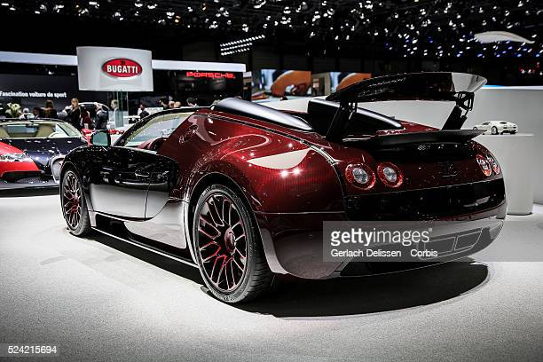 The final Bugatti Veyron 'La Finale' on display at the 85th Geneva International Motor Show March 4th Switzerland