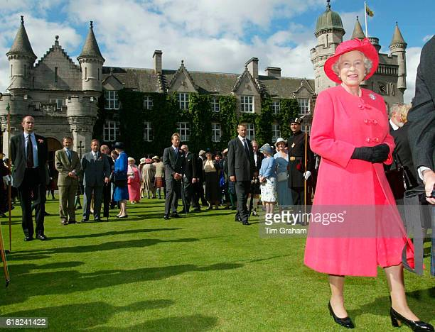 The final day of the Golden Jubilee tour ends with a Garden Party in the grounds of the Queen's home at Balmoral Castle. Queen Elizabeth ll, happy...