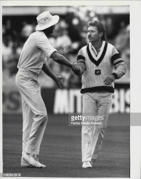 The final day of the second test between Australia and New Zealand at series on Allan Border Captain Australian team awaiting victory final seconds...