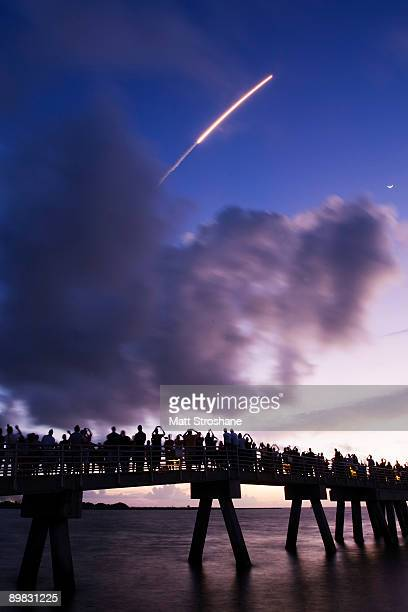The final Delta II GPS rocket lifts off from Cape Canaveral Air Force Base and launch site SLC17A on August 17 2009 in Cape Canaveral Florida After...