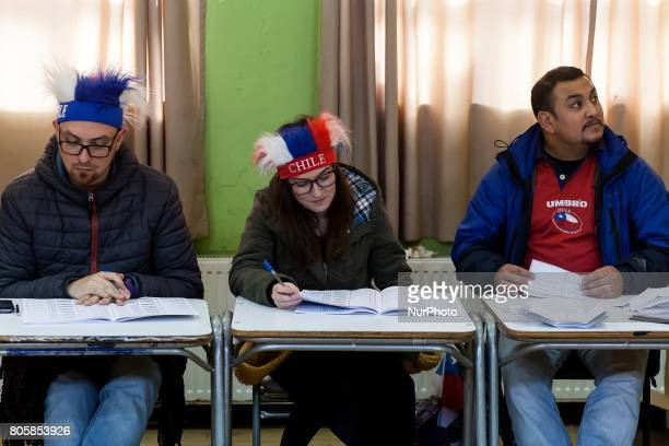 The final game of the Confederations Cup between Chile and Germany is played while holding the presidential primary elections 2017 Chilean citizens...