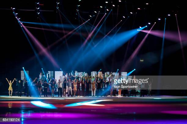 The final good bye after the Art on Ice show on February 7 at Malley Arena in Lausanne Switzerland
