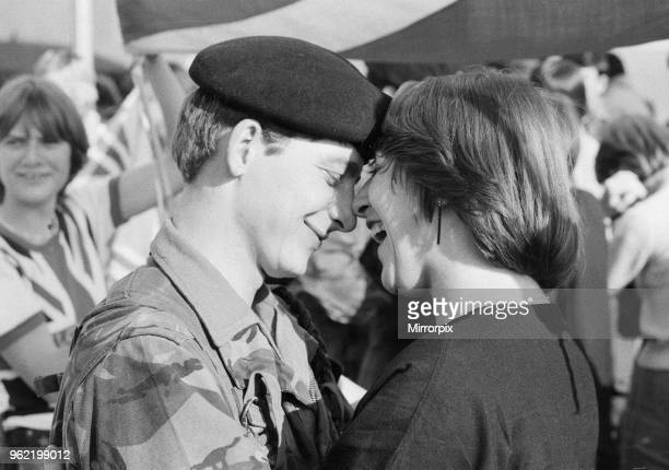 The final homecoming for army units of the Royal Engineers 36th Regiment which took place at RAF Brize Norton Oxfordshire The regiment commanded by...