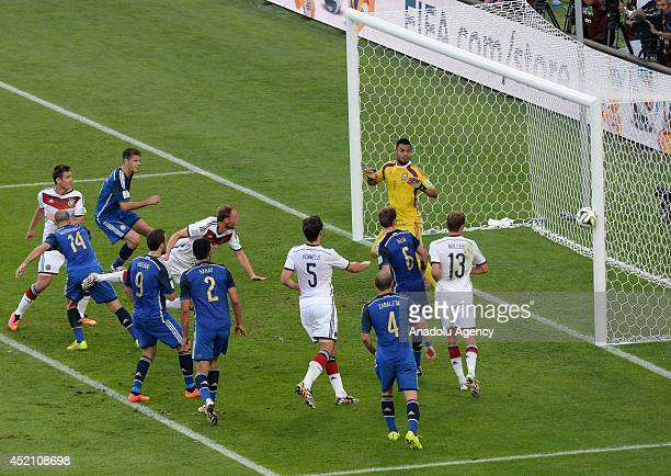 The final match of the FIFA World Cup 2014 between Germany and Argentina is played at the Maracana stadium in Rio de Janeiro Brazil on July 13 2014