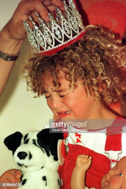 The final Miss Pears threeyearold Ella Cox from Bath burst into tears shortly after she was crowned in London