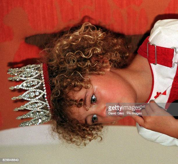 The final Miss Pears threeyearold Ella Cox from Bath on the verge of tears shortly after she was crowned in London today Photo by Dave Giles/PA See...