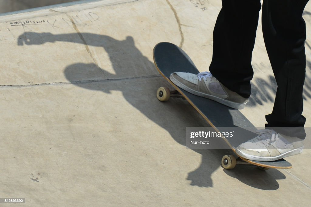 The final of Skateboarding competition of Carpatia Extreme Festival 2017, in Rzeszow. On Sunday, July 16, 2017, in Rzeszow, Poland.