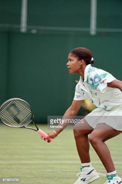 The final of the DFS Classic Tennis Championship at the Edgbaston Priory Club. Lori McNeil defeated Zina Garrison-Jackson 6-2, 6-2. Pictured, Lori...