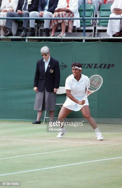 The final of the Dow Classic Tennis Tournament Women's Singles Final at the Edgbaston Priory Club between Zina Garrison and Helena Sukov 17th June...