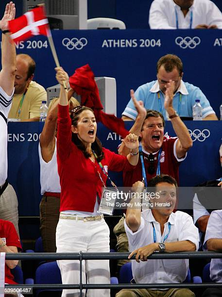 The final of the womens handball between Denmark and Korea at the Athens Olympics on 29 August 2004 Denmark won in overtime Prince Frederik and...