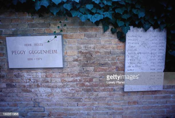 The final resting place of Peggy Guggenheim and all her faithful dogs.