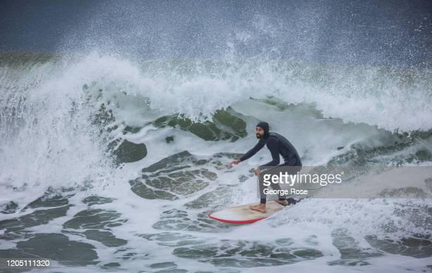 The final round of the SLO CAL Open Surfing Championship is held on February 2 in Pismo Beach, California. Pismo Beach, located on the Central Coast,...