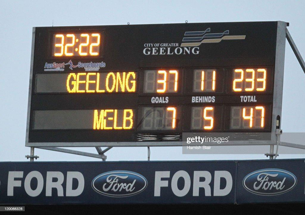 AFL Rd 19 - Geelong v Melbourne : News Photo