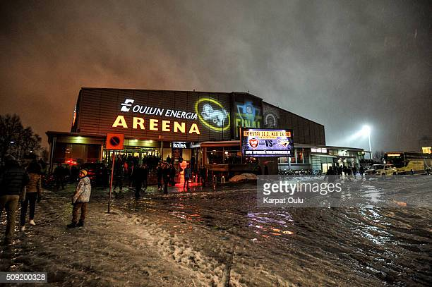 The final takes it place in Oulun Energiaareena during the Champions Hockey League final between Karpat Oulu and Frolunda Gothenburg at Oulun...