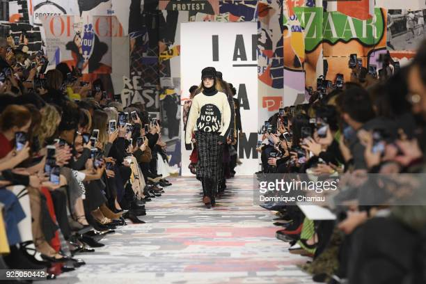 The finale during the Christian Dior show as part of the Paris Fashion Week Womenswear Fall/Winter 2018/2019 on February 27 2018 in Paris France