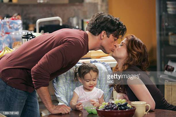 WILL GRACE The Finale Episode 23 Pictured Harry Connick Jr as Leo Markus Baby Lila Debra Messing as Grace Adler