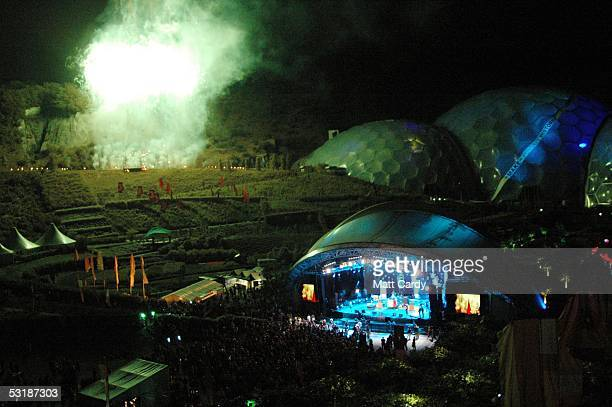 The finale on the main stage as seen during Live 8 Africa Calling hosted by musician Peter Gabriel at The Eden Project on July 2 2005 in St Austell...