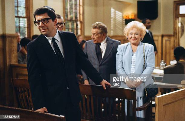 SEINFELD The Finale Part 12 Episode 23 24 Pictured Bruce Mahler as Rabbi Glickman Jerry Stiller as Frank Costanza Estelle Harris as Estelle Costanza