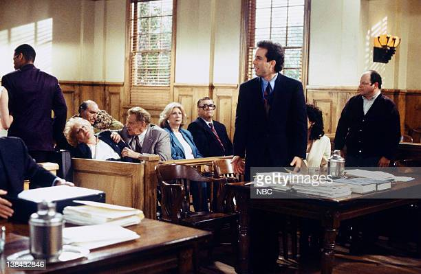 SEINFELD The Finale Part 12 Episode 23 24 Pictured Estelle Harris as Estelle Costanza Jerry Stiller as Frank Costanza Liz Sheridan as Helen Seinfeld...