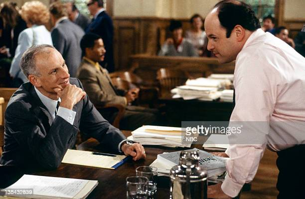 SEINFELD 'The Finale Part 12' Episode 23 24 Pictured James Rebhorn as DA Hoyt Jason Alexander as George Costanza