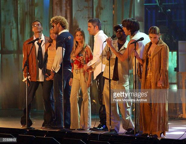 The Finale performance on the 7 Eleven One World Jam A Concert for Global Harmony at Radio City Music Hall in New York City July 11 2002 Photo by...