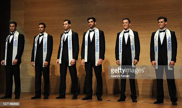 The finalists Francisco de Asis Rafael Lopez Carlos Luis Maturana Carlos Alberto Garcia Morio Plagaro and David Hernandez on stage at the Mister...