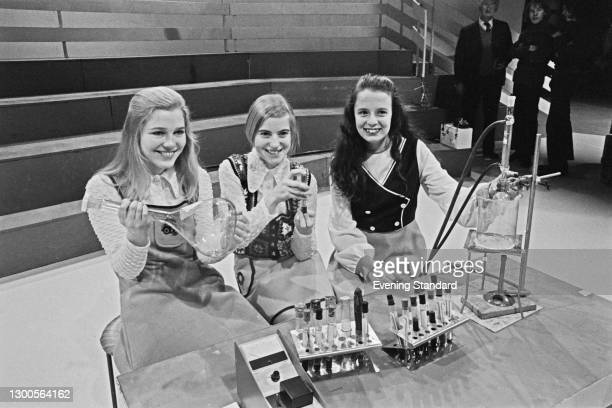 The finalists in the BBC1 television series 'Young Scientists Of The Year' at the BBC Television Centre in London, UK, 29th March 1973.