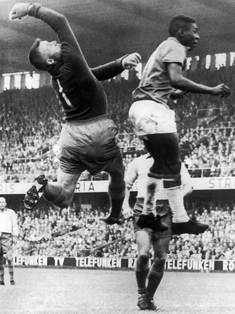 Svenson And Pele In Action In Stockholm 1958