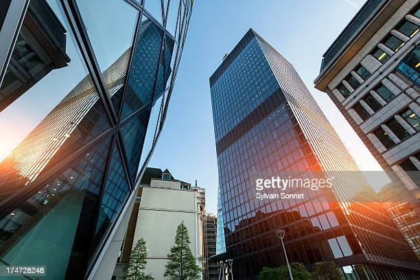 the financial district in london - bank stock pictures, royalty-free photos & images