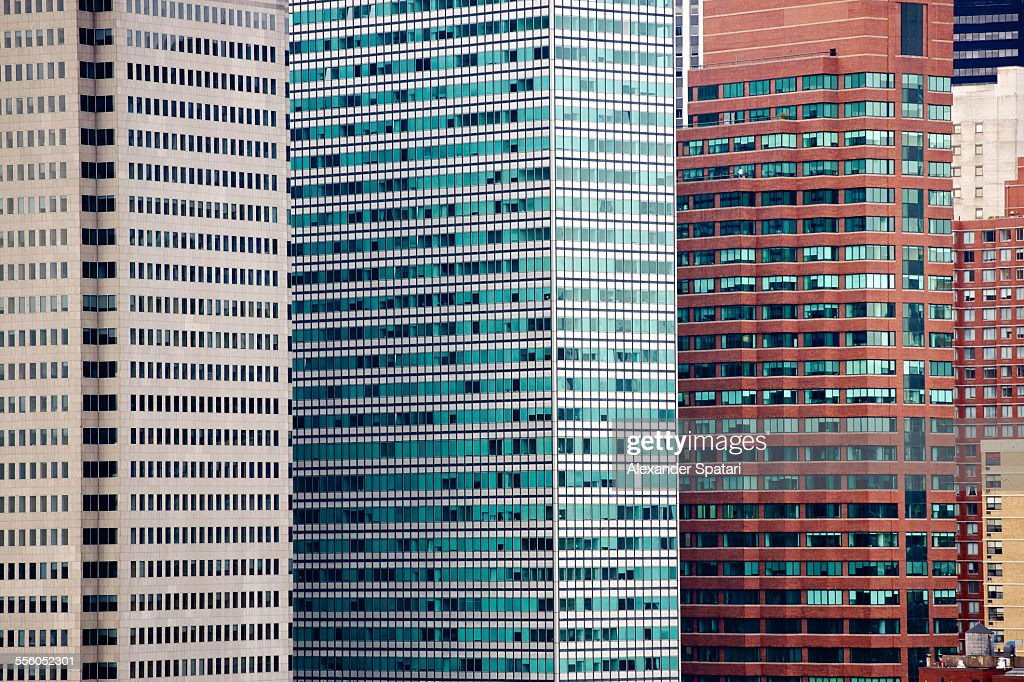 The Financial District in Manhattan from Brooklyn : Stock Photo