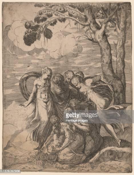 The Finding of Moses, 1540s. Artist Battista del Moro.