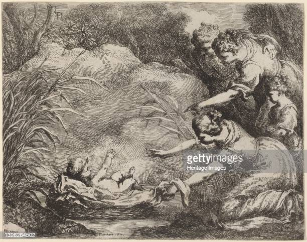 The Finding of Moses. Artist Bartolomeo Biscaino.