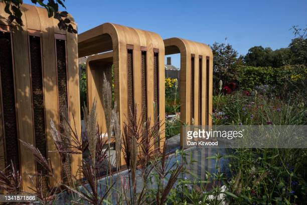 The 'Finding our way', NHS Tribute show garden at the Chelsea Flower Show on September 20, 2021 in London, England. This year's RHS Chelsea Flower...