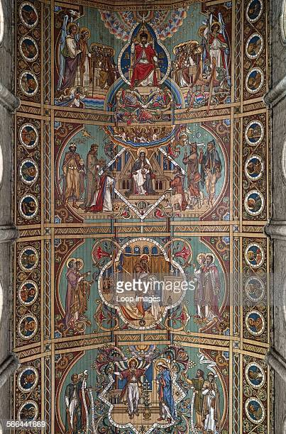 The fine painted ceiling of Ely Cathedral