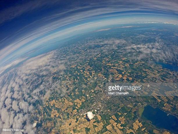 The Finger Lakes from Near Space Weather Balloon