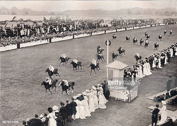 'The Finish for the Royal Hunt Cup', c1903. The Royal Hunt Cup is a flat handicap horse race in Great Britain open to horses aged three years or...