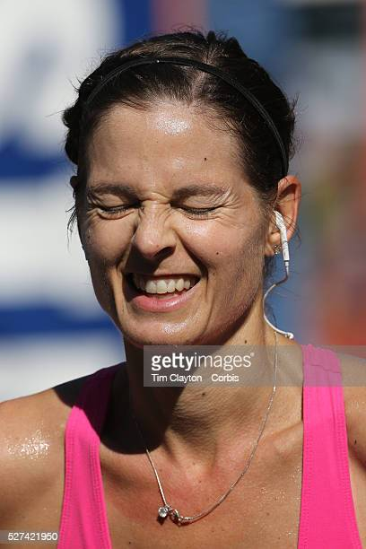 The Finish Line Expressions of agony and ecstasy on the faces of athletes as they complete the ING Hartford Marathon Bushnell Park Hartford...