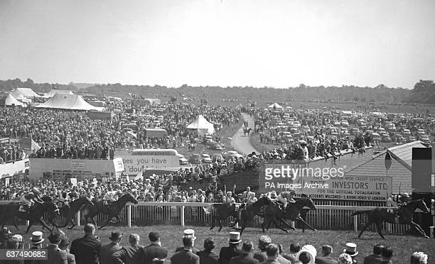 The finish of the 183rd Derby Stakes won by Larkspur ridden by Neville Sellwood as Arcor Roger Poincelet up finishing second