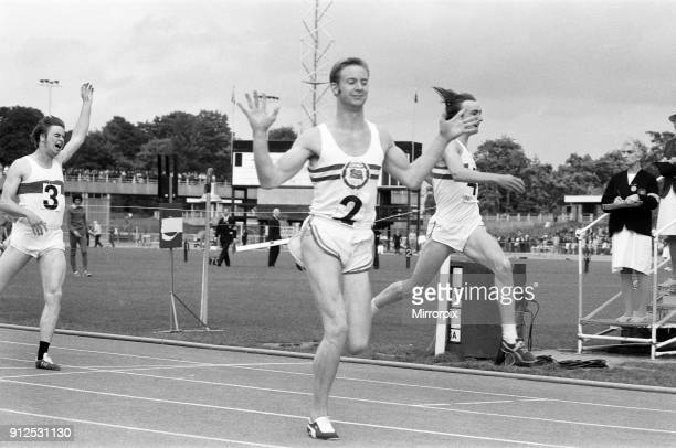 The finish of the 200 metre race at the 1971 International Athletics at Crystal Palace David Jenkins finished 1st followed by Alan Pascoe 2nd and...