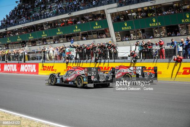 The finish of the LMP2 Jackie Chan DC Racing ORECA 07Gibson with drivers David Cheng /Tristan Gommendy /Alex Brundle and LMP2 Jackie Chan DC Racing...