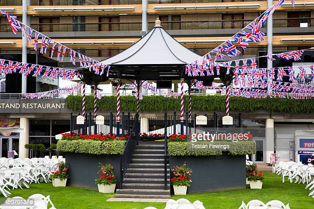 The finishing touches are added ahead of Royal Ascot 2014 at Ascot Racecourse on June 16 2014 in Ascot England
