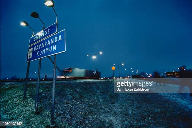 the finland-sweden border - norrbotten province stock pictures, royalty-free photos & images
