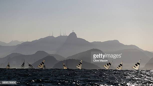 The Finn class competes on Day 9 of the Rio 2016 Olympic Games at the Marina da Gloria on August 14 2016 in Rio de Janeiro Brazil