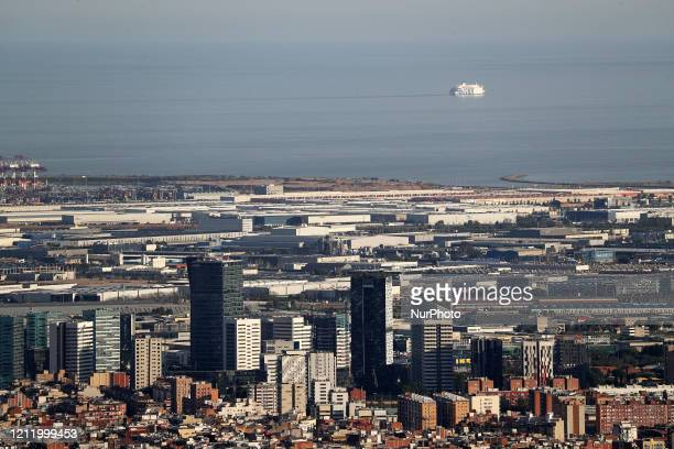 The Fira of Barcelona area Barcelona reaches historic lows in air pollution on 06th May 2020