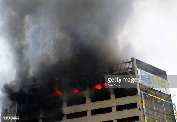 The fire broke out at the 16th floor of the Jeevan Sudha building which houses the server room of the State Bank of India's global market office at...