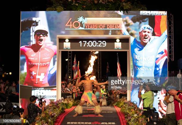 The Fire Dance is performed after the IRONMAN World Championships brought to you by Amazon on October 13 2018 in Kailua Kona Hawaii
