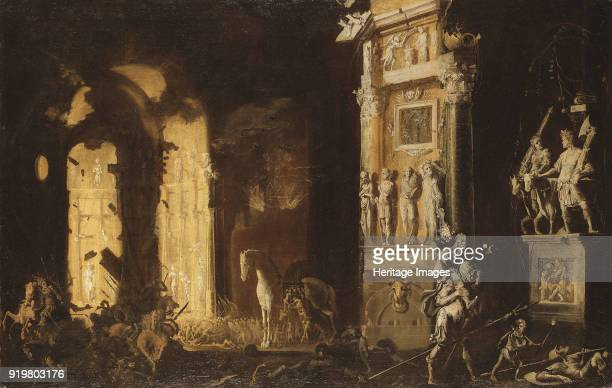 The Fire of Troy with Aeneas Carrying Anchises Found in the collection of Nationalmuseum Stockholm