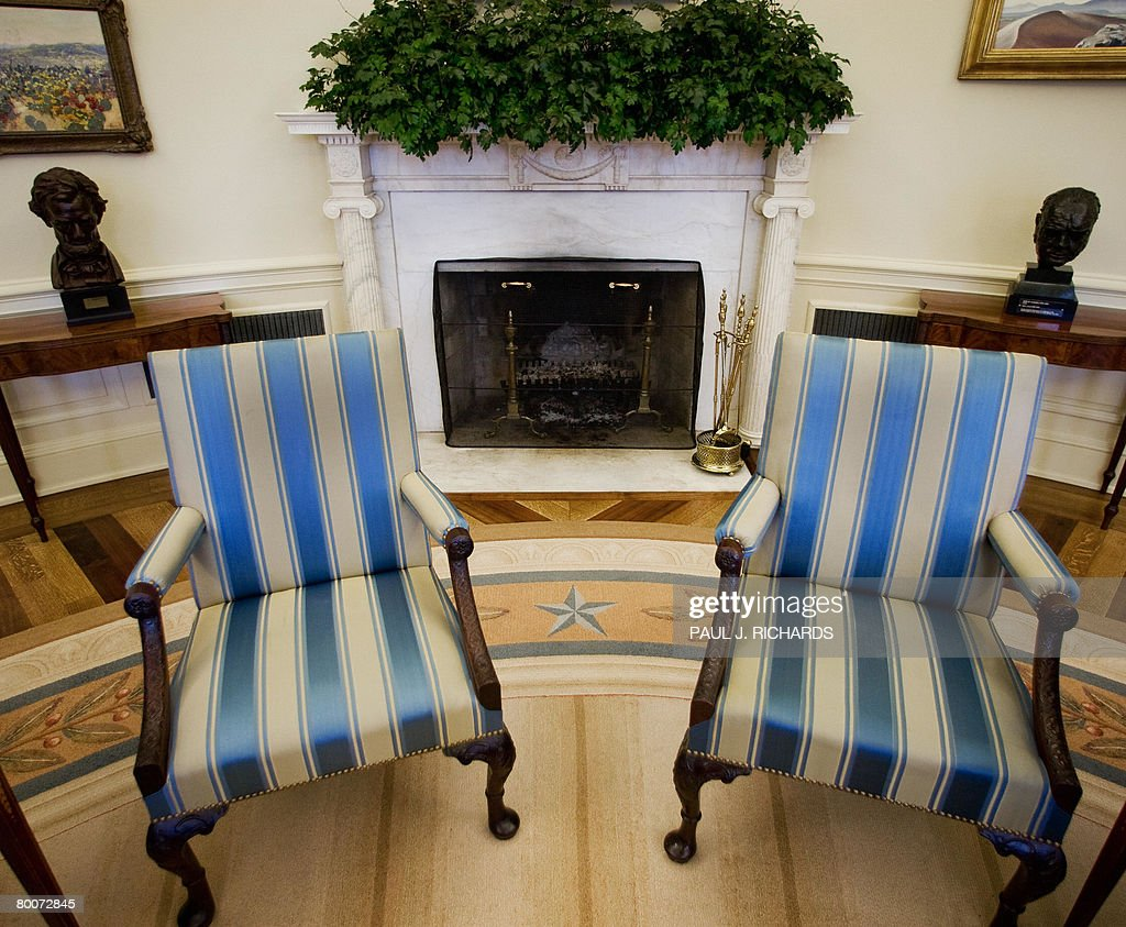 oval office fireplace. The Fireside Chairs Of US President George W. Bush\u0027s Oval Office At White House Fireplace O