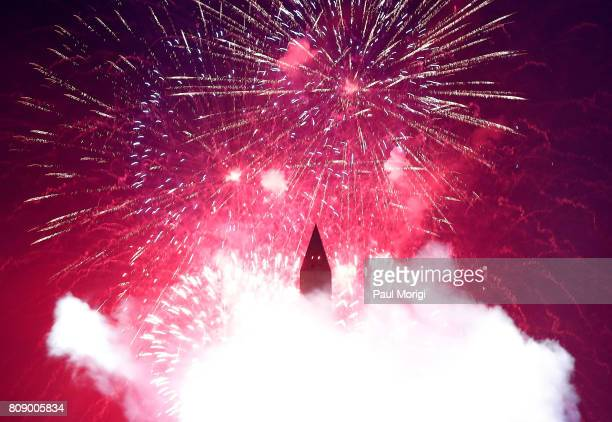 The fireworks finale during A Capitol Fourth at US Capitol West Lawn on July 4 2017 in Washington DC