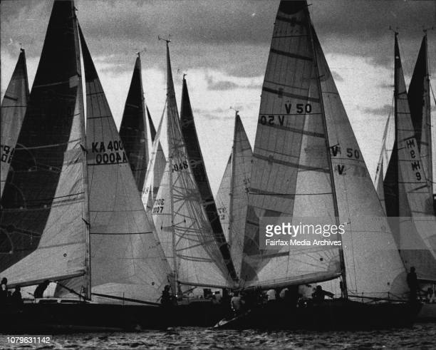 The firs of the selection trials for 1987 Southern Cross CupStart of the race November 27 1987